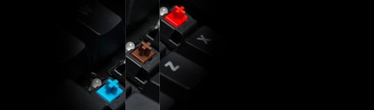 信頼性が実証されているCHERRY® MX メカニカルキースイッチ