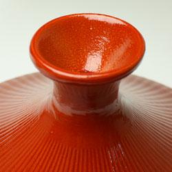 IH非対応 土鍋風アルミタジン鍋のフタのツマミ部分のア質感。土鍋風、ですよねー。