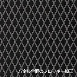 【日本製】超薄型遠赤外線暖房機 アーバンホットの前面パネルは触れても安心、フロッキー加工