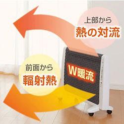 【日本製】超薄型遠赤外線暖房機 アーバンホットは、W暖流効果でお部屋全体を暖めてくれます!