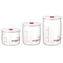 パイレックス 密閉保存容器(密閉パック)・1Lの大きさは3種類