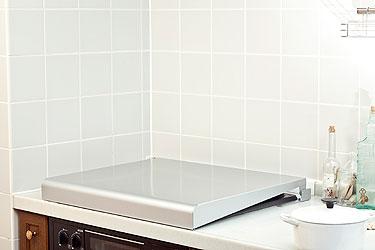 ステンレス製 IHクッキングヒーター&ガスコンロカバー(システムキッチン用)シルバー 60cm