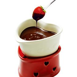 ラブラブなチョコフォンデュ鍋