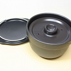 【日本製】有田焼・おひつ炊飯鍋・1〜2合用ご飯鍋(二重蓋)