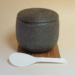 伊賀焼きおひつ柿釉