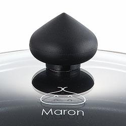 IH対応コンパクトマロンポットパン20cmは、蓋のとってもマロンです。