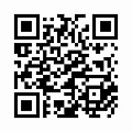 【津軽びいどろ】日本製・藍花器・大・f-79805のQRコード
