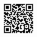 【津軽びいどろ】日本製・藍花器・中(小判)f-79807のQRコード