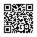【津軽びいどろ】日本製・花器(十和田・花)f-79824のQRコード