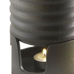 【日本製】日本酒・焼酎用 陶器製燗冷器3点セット うでぃ(徳利)なら、ローソクの炎で温めながら飲むことができます。