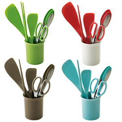 シリコン製 菜箸(レッド)