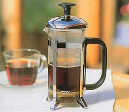 プレス式コーヒーメーカーとしても使えるハリオ・ティーメーカー ハリオール