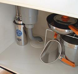 浄水器の収納状態