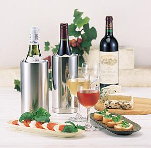 ステンレス二重ワインクーラースリムは2種類