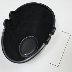 【日本製】蚊遣り(蚊取り線香入れ)黒のセット内容。
