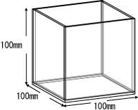 アクリルボックス、AB-100、10cm、5面体
