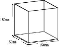 アクリルボックス、AB-150、15cm、5面体