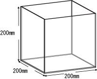 アクリルボックス、AB-200、20cm、5面体