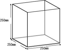 アクリルボックス、AB-250、25cm、5面体