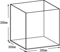 アクリルボックス、AB-300、35cm、5面体
