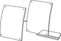 サインホルダー、LR型、マグネットタイプ、台座取り付け方法