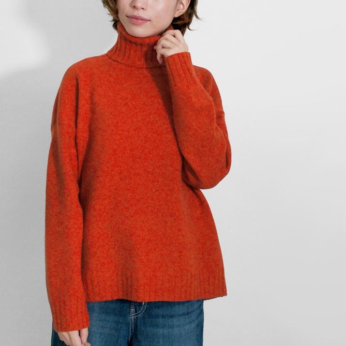 ウールカシミヤタートルネックセーター