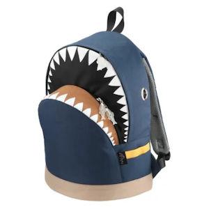 MORN CREATIONS モーンクリエーションズ シャーク バックパック コンビ L愛くるしい表情と、ディテールにこだわった作り込みが特徴です。 サメリュック 鮫