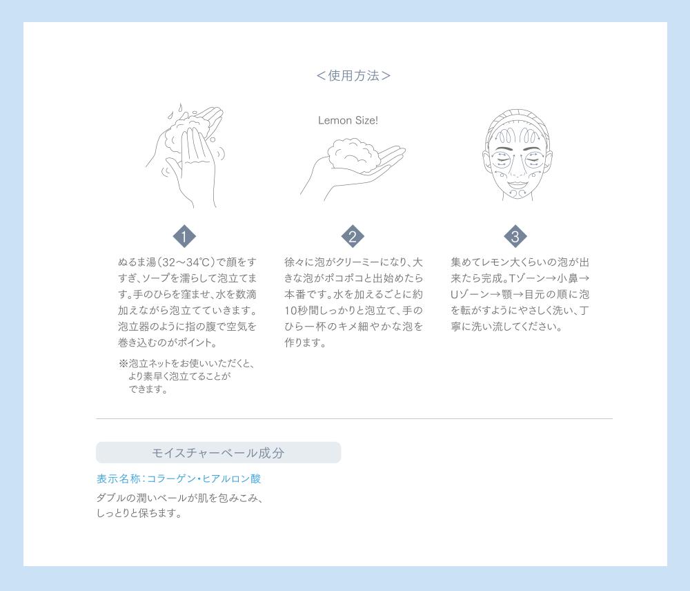 美白石鹸の使用方法