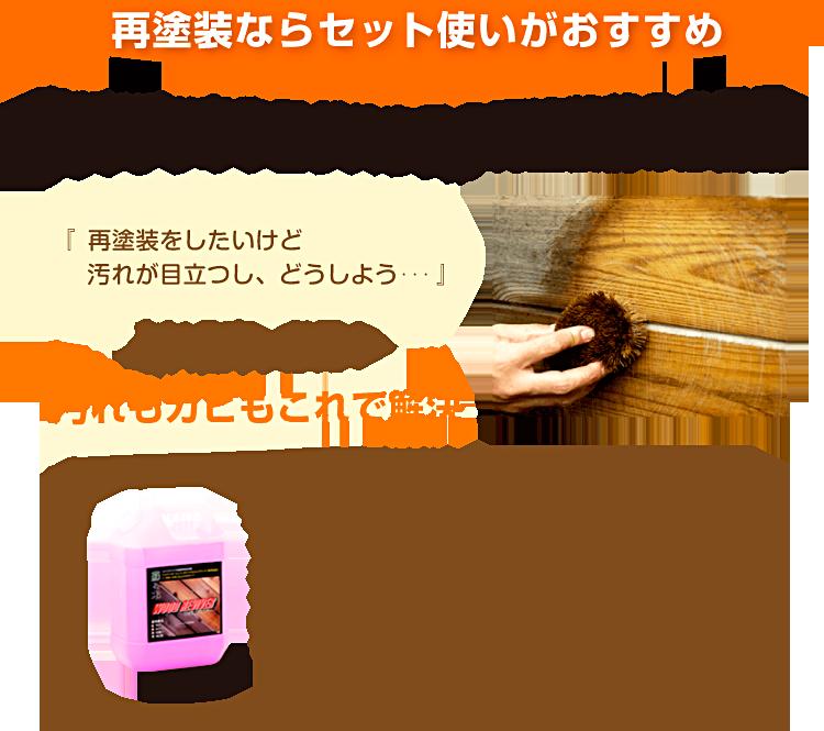 浸透性 木材保護塗料 インウッド 塗装前の洗浄