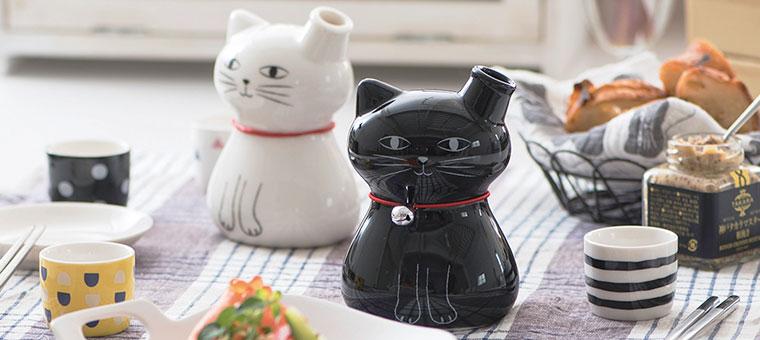 猫の徳利&お猪口2個