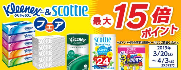 日本製紙クレシア クリネックス・スコッティ特集