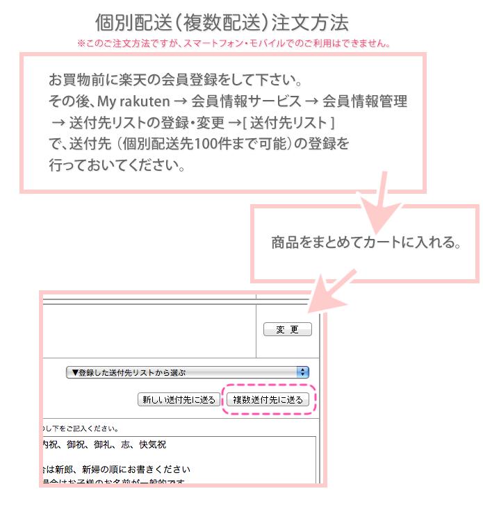 個別配送(複数配送)注文方法
