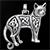 猫(ネコ)シルバーアクセサリーペンダント