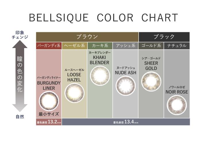 ベルシークのカラーチャート