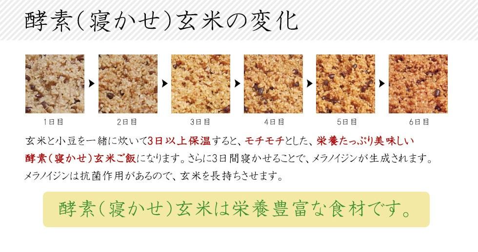 酵素玄米・寝かせ玄米は栄養豊富な食材です。