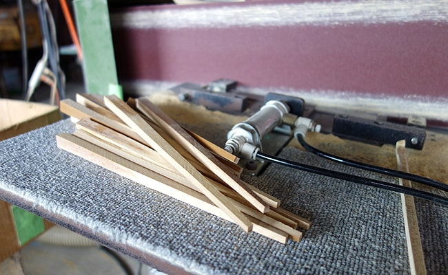 地場産の良質な竹素材