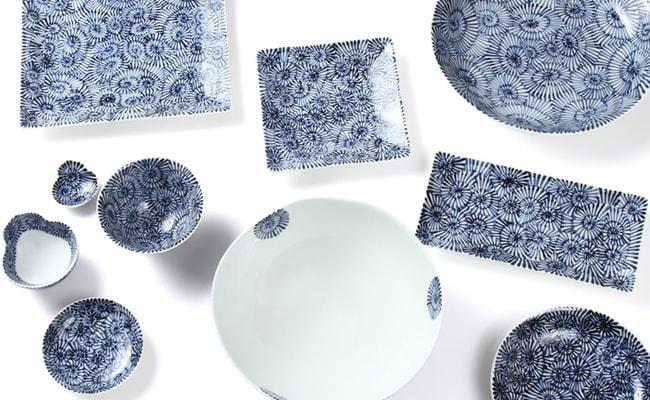 深い藍色が際立つエキゾチックな雰囲気の、蛸唐草シリーズ