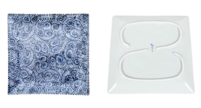 隙間なく描かれた蛸唐草の文様が、食材を引き立てる
