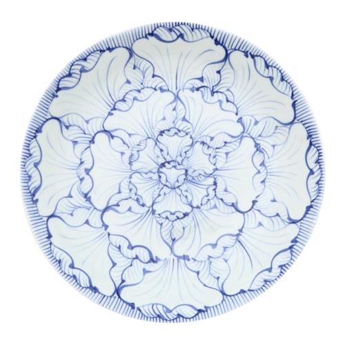 そうた窯 染付花弁紋 8.5寸深皿