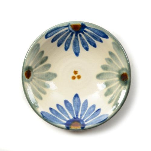 育陶園 皿3.5寸菊紋