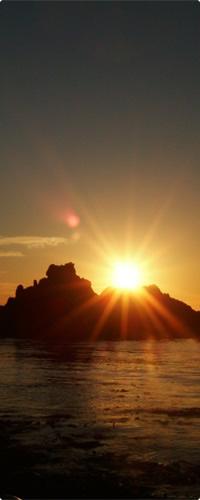 礼文島の夕日