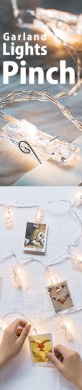 LEDガーランドライト洗濯バサミ型 elc-502