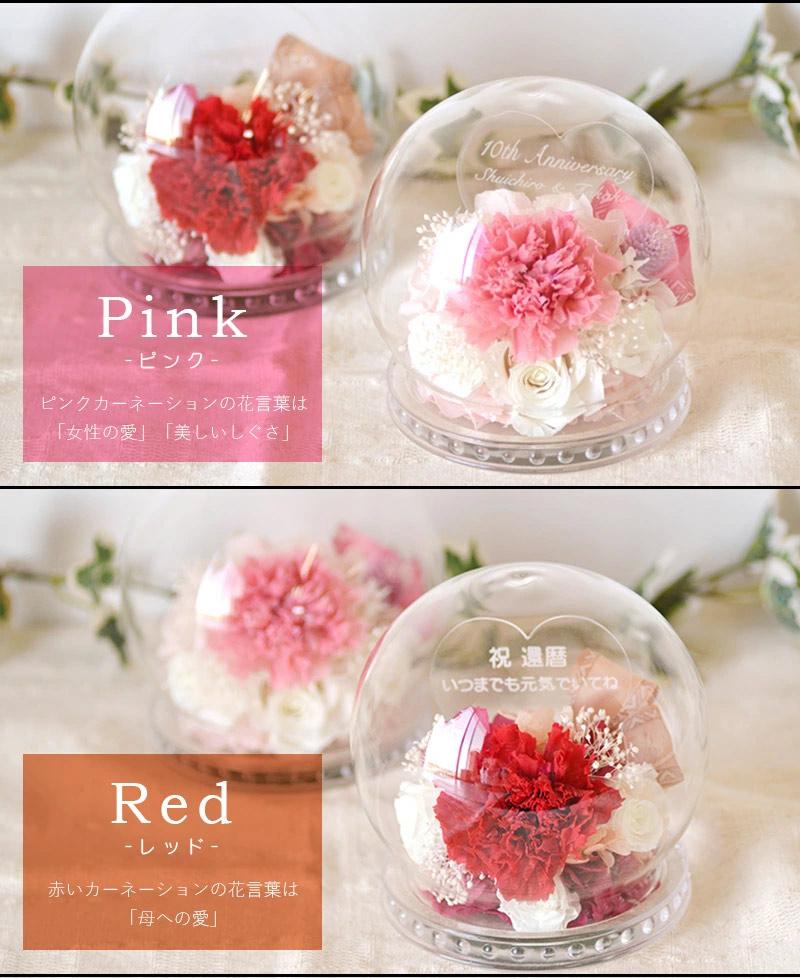 選べるカラーはレッドとピンクの2カラー