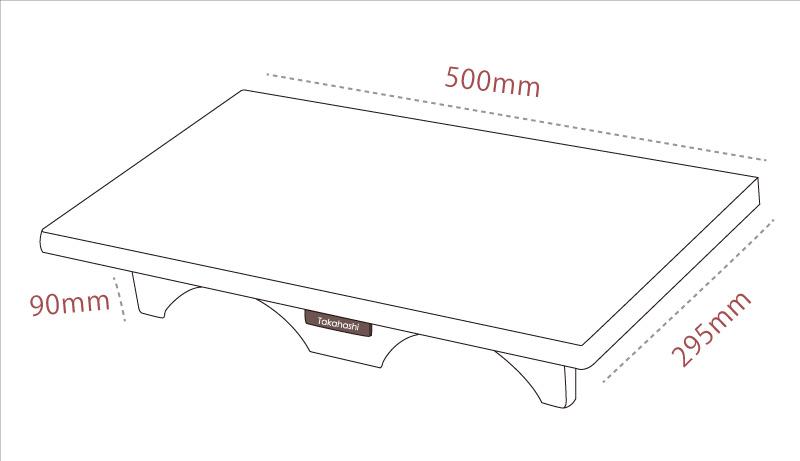 ひざ置きテーブルの図面見本