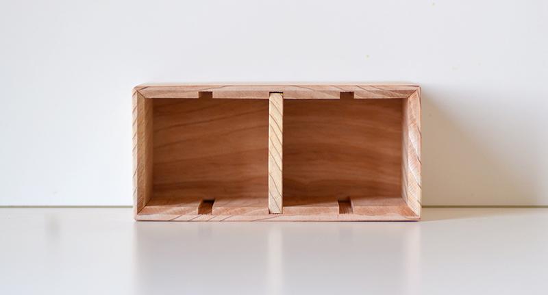 名入れ木製ペン立て仕切り1枚の使用断面図