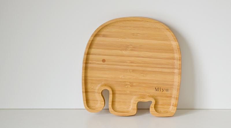 名入れプレート形状見本:ゾウ