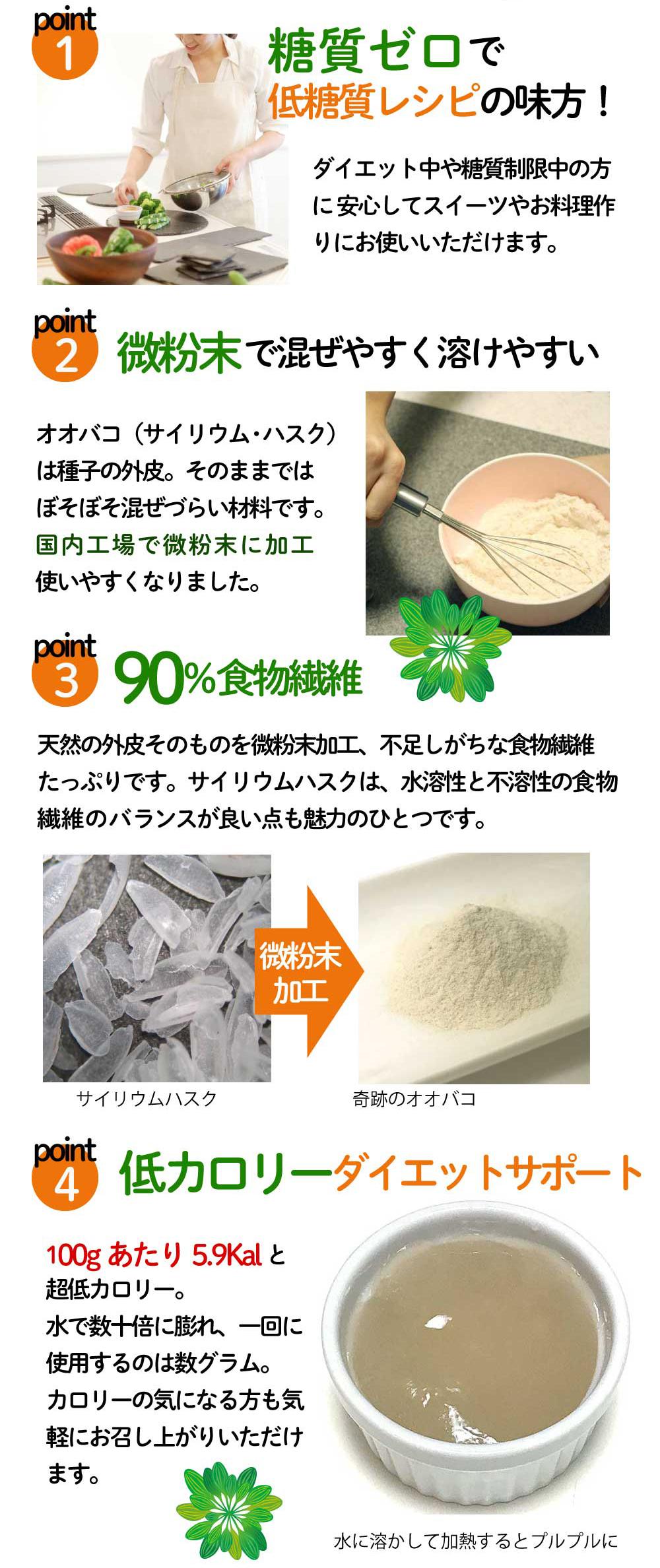 奇跡のサイリウム 糖質ゼロ 微粉末 ダイエット サポート オオバコ サイリウム 粉末 サイリウムハスク オオバコダイエット