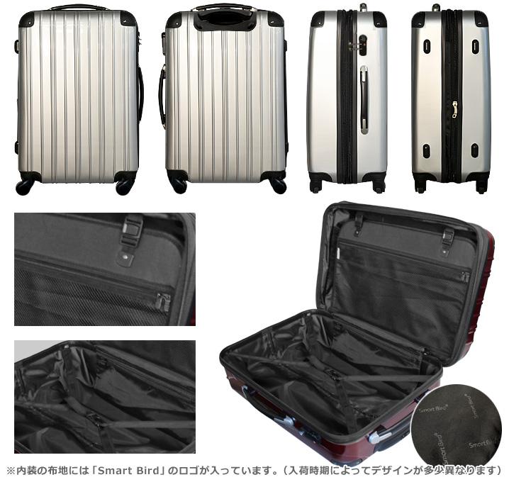 スーツケースの外装・内装
