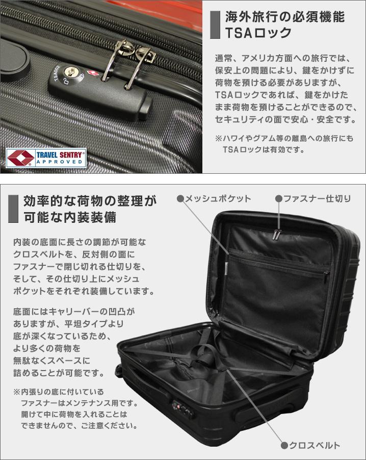 TSAロック・内装装備