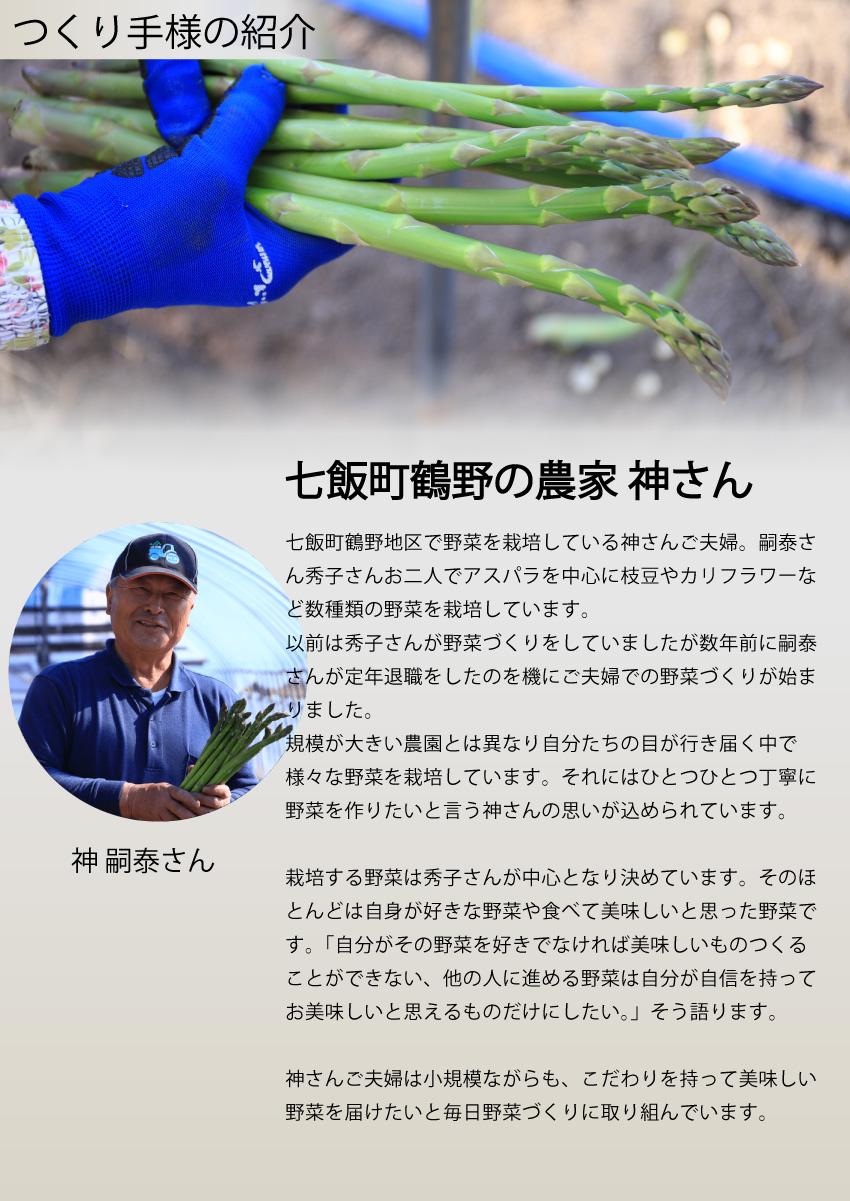 七飯町鶴野の神さんのつくり手紹介ページ